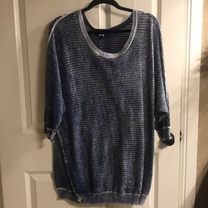 Lane Bryant sweater size 22/24 blue with holes